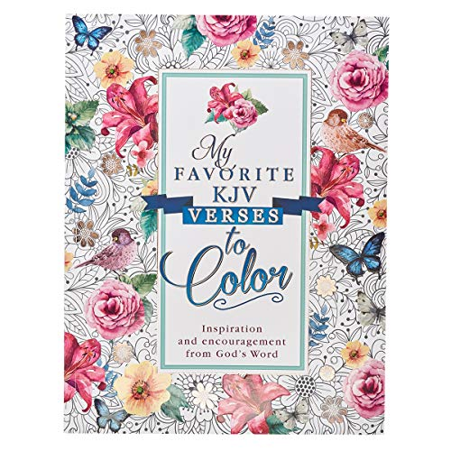 """My Favorite KJV Verses to Color"""""""" Inspirational Adult Coloring Book"""