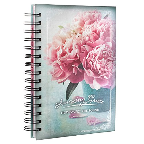 9781432120160: Journal Large Wirebound Amazing Grace Peony Vase