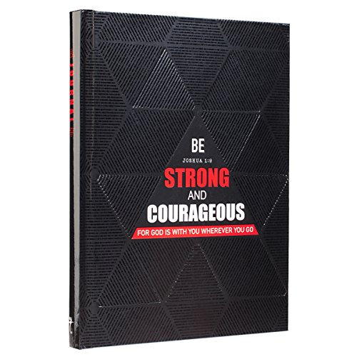9781432121808: Journal Hardcover - Black/Red - Be Strong