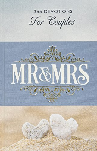 Mr & Mrs Devotions For Couples in Hardcover: Christian Art Gifts