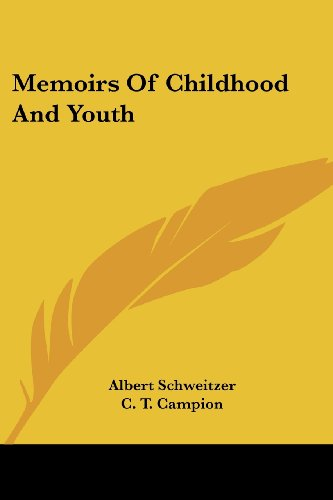 9781432566210: Memoirs Of Childhood And Youth