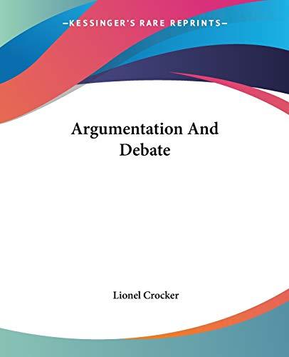 9781432593117: Argumentation And Debate