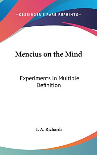 9781432603861: Mencius on the Mind: Experiments in Multiple Definition