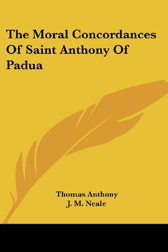 9781432678180: The Moral Concordances of Saint Anthony of Padua