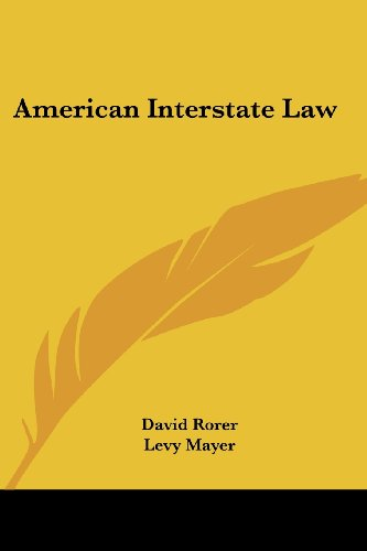 9781432694203: American Interstate Law