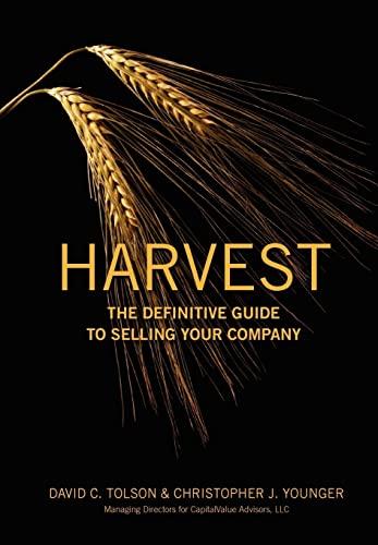Harvest: David C Tolson, Christopher J Younger