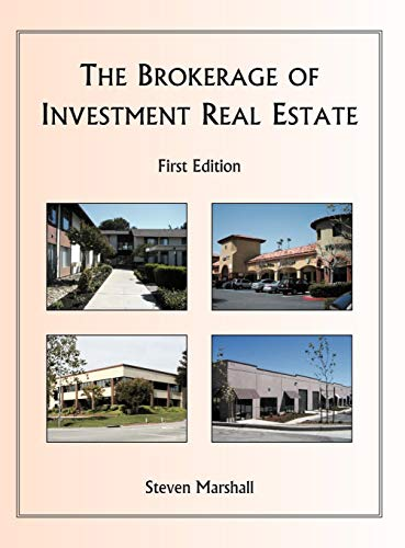 The Brokerage of Investment Real Estate: Marshall, Steven