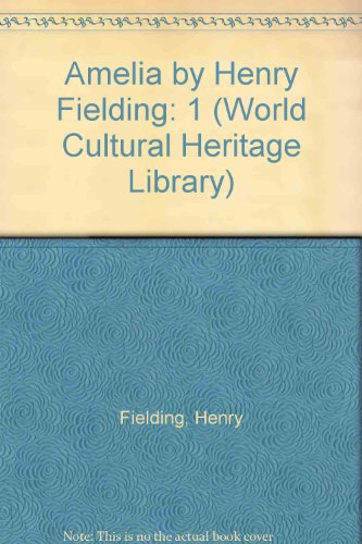 9781433097645: 1: Amelia by Henry Fielding (World Cultural Heritage Library)