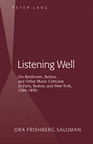 Listening Well: Ora Frishberg Saloman