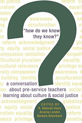 How Do We Know They Know?: A: Deborah Davis, R.
