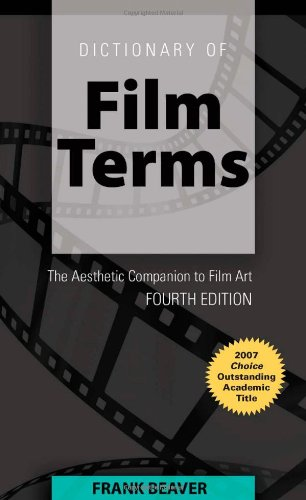 Dictionary of Film Terms 9781433104534 Now in its fourth edition, Frank Beavers Dictionary of Film Terms has become an indispensable reference tool for the study of films and filmmaking. This trusted and practical handbook clearly and concisely defines the essential terms of film analysis, with a special focus on the aesthetic values of filmmaking. This updated, expanded edition covers areas as wide-ranging as digital cinema, direct-to-DVD, and polyphonic film, and includes numerous stills from classic and contemporary films. References to nearly 150 films not cited in previous editions have been added. Extensive cross-referencing among individual definitions ensures easy access to specific terms, and a comprehensive topical index relates to larger concepts of film art. This up-to-date and comprehensive resource is a useful companion for film students and filmgoers, who will find it illuminating in its range and clarity.