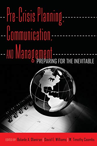 9781433111341: Pre-Crisis Planning, Communication, and Management: Preparing for the Inevitable