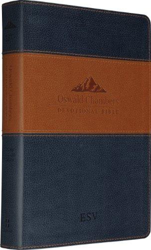 9781433501456: ESV Oswald Chambers Devotional Bible (TruTone, Navy/Tan)
