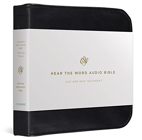 ESV Hear the Word Audio Bible (Audio disc) 9781433502958 The ESV Hear the Word Audio Bible provides 74.5 hours of Bible reading, conveniently captured on 7 MP3 discs for listening at home, in y