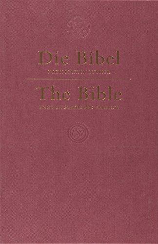 9781433503764: ESV German/English Parallel Bible ((Luther-ESV), Dark Red)