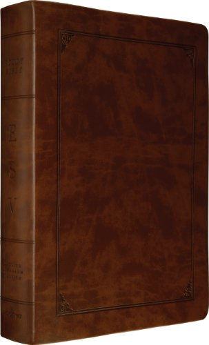 ESV Study Bible, Larger Print (TruTone, Walnut, Frame Design): ESV Bibles by Crossway