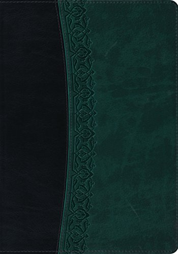 9781433524295: ESV Large Print Bible (TruTone, Black/Spruce, Garland Design)