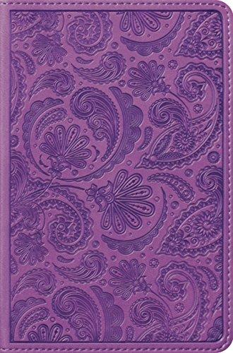 ESV Compact Bible TruTone, Purple, Paisley Design: ESV Bibles by Crossway