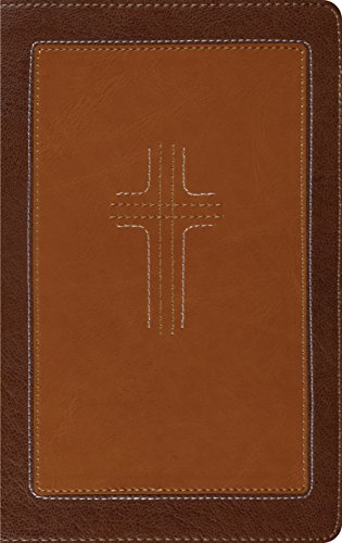 ESV Thinline Bible (TruTone, Cordovan/Saddle, CrossStitch Design) (1433524392) by ESV Bibles by Crossway