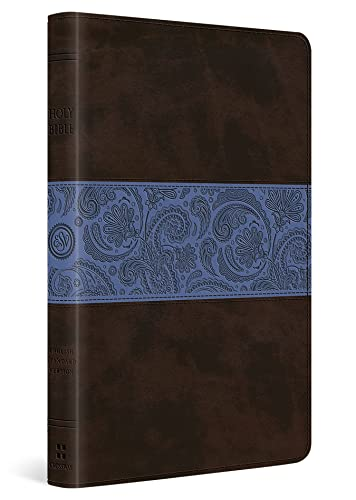 9781433524400: ESV Thinline Bible (TruTone, Chocolate/Blue, Paisley Band)