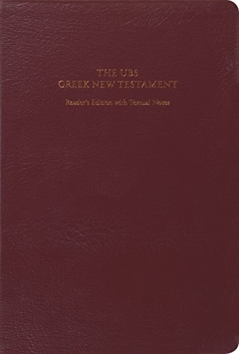 9781433530296: UBS Greek New Testament: Reader's Edition with Textual Notes (Burgundy)