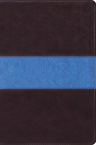 9781433535765: ESV Single Column Legacy Bible (TruTone, Chocolate/Blue, Paisley Band Design)