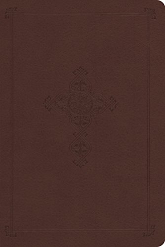 9781433536489: ESV Personal Reference Bible (TruTone, Brown, Antique Cross Design)