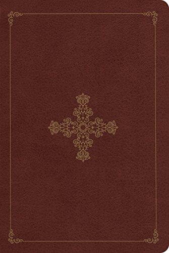9781433537363: ESV Single Column Heritage Bible (TruTone, Deep Brown, Ornate Cross Design)