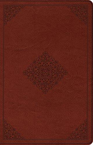 9781433540554: ESV Large Print Thinline Reference Bible (TruTone, Tan, Ornament Design)