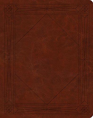 9781433540578: ESV Single Column Journaling Bible (TruTone over Board, Brown, Window Design)