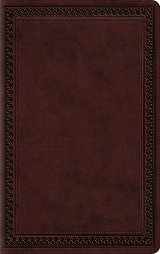 9781433541568: ESV Large Print Compact Bible (TruTone, Mahogany, Border Design)