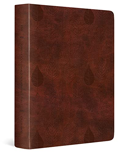 9781433544408: Holy Bible English Standard Version Single Column Journaling Bible, Trutone, Chestnut, Leaves Design