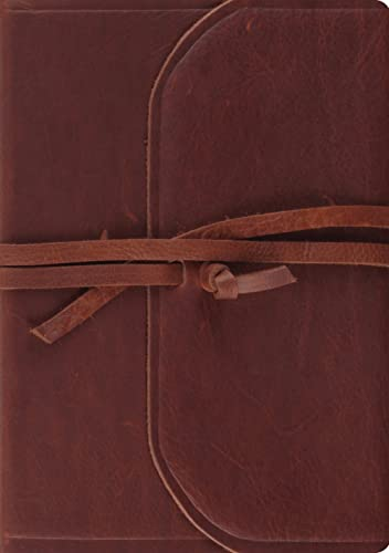 9781433552762: ESV Journaling Bible, Interleaved Edition (Brown, Flap with Strap)