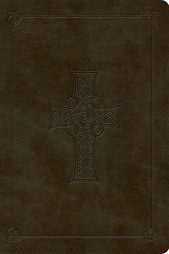 9781433557637: ESV Large Print Bible (TruTone, Olive, Celtic Cross Design)