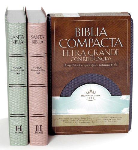 RVR 1960 Biblia Compacta Letra Grande con Referencias, cristal rosado símil piel (Spanish ...