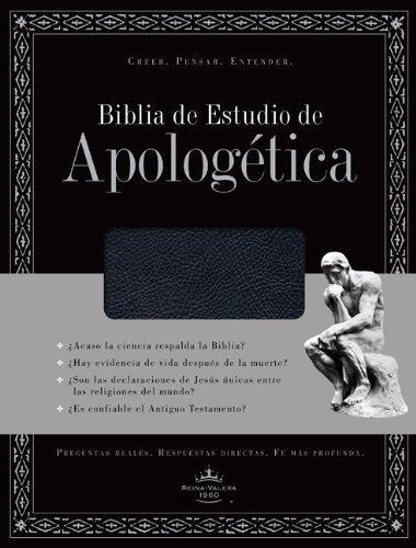 Biblia de Estudio de Apologetica, piel fabricada, con indice (Negro) (Spanish Edition): B&H Espanol...