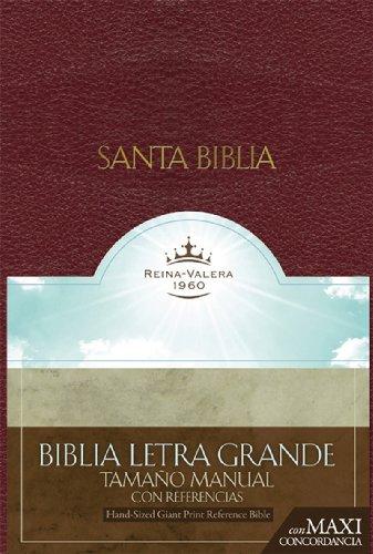 9781433600500: RVR 1960 Biblia Letra Granda Tamaño Manual con Referencias, borgoña imitación piel (Spanish Edition)