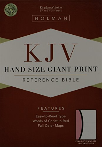 9781433600692: KJV Large Print Personal Size Reference Bible, Pink/Brown/White LeatherTouch