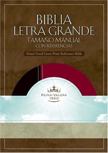 RVR 1960 Biblia Letra Grande Tamaño Manual con Referencia, negro/borgoña s&...