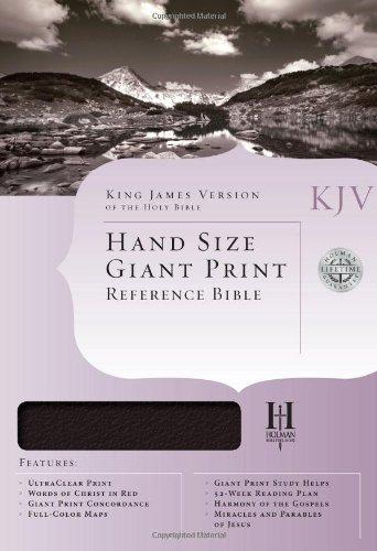 KJV Hand Size Giant Print Reference Bible, Burgundy Bonded Leather