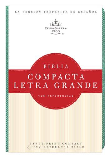 RVR 1960 Biblia Compacta Letra Grande, turquesa imitación piel (Spanish Edition)
