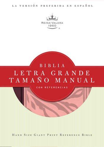 RVR 1960 Biblia Letra Grande Tamano Manual con Referencias, borravino/rosado simil piel (...