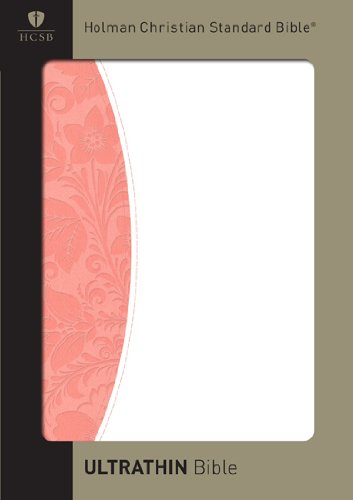 9781433602368: HCSB Ultrathin Reference Bible, Blush/White Simulated Leather
