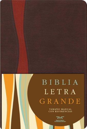 9781433602627: RVC Biblia Letra Grande Tamaño Manual, chocolate/cobrizo símil piel (Spanish Edition)