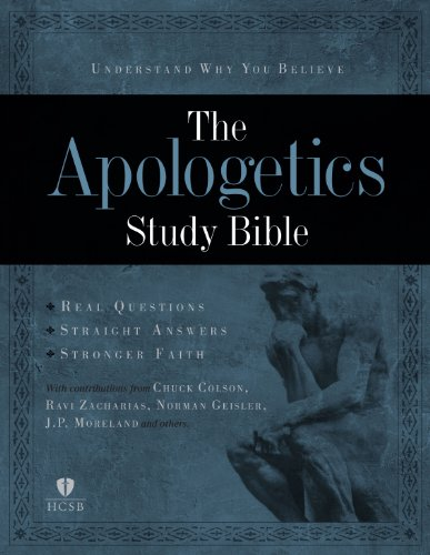 9781433602849: Apologetics Study Bible, Black Genuine Leather Indexed
