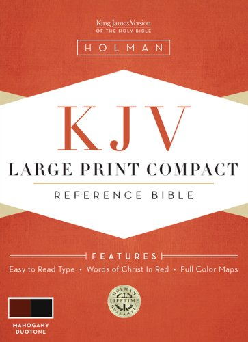 9781433602924: KJV Large Print Compact Reference Bible, Mahogany LeatherTouch