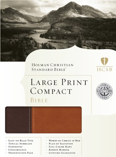 9781433602962: HCSB Large Print Compact Bible, Brown/Tan LeatherTouch