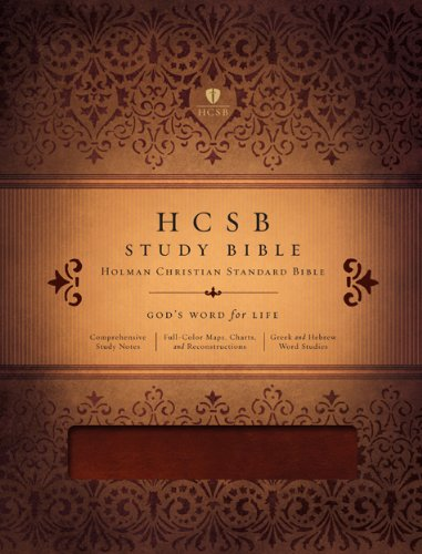 9781433603174: HCSB Study Bible, Mahogany LeatherTouch Indexed