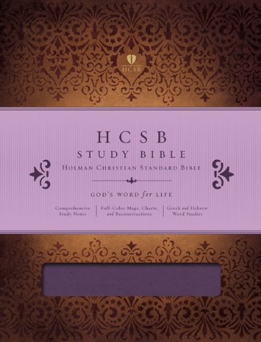 HCSB Study Bible, Mulberry LeatherTouch Indexed: Holman Bible Publishers