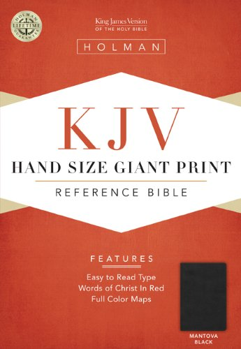 9781433603235: KJV Large Print Personal Size Reference Bible, Mantova Black LeatherTouch, Indexed